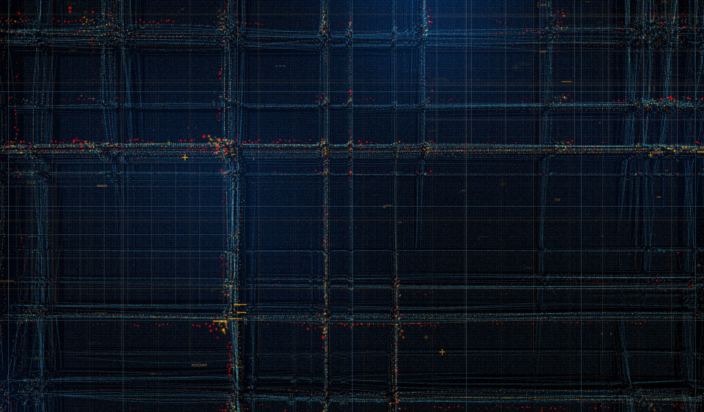 Particles, structure, lines, pattern, dark, 1024x600 wallpaper