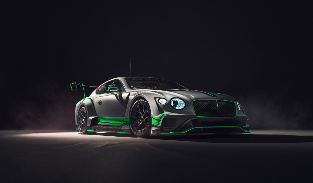 2018 Bentley Continental GT3, 2018 luxury car, 1024x600 wallpaper