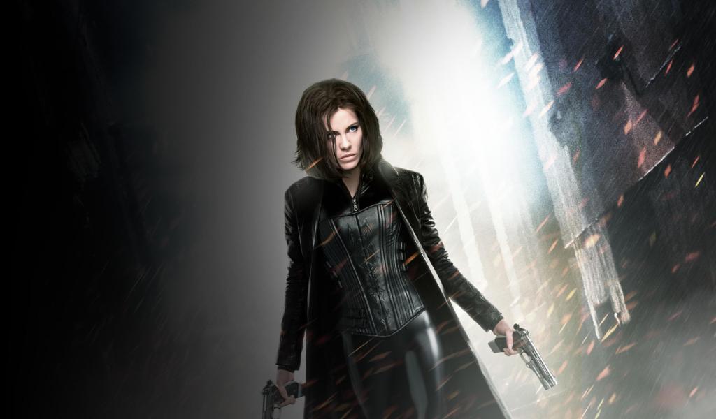 Vampire, Kate Beckinsale, Underworld, movie, 1024x600 wallpaper