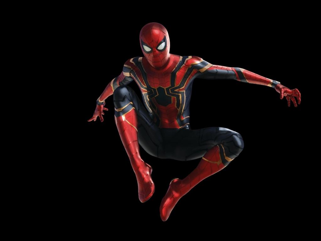 Desktop wallpaper jump spider man avengers infinity war - Spider man infinity war wallpaper ...
