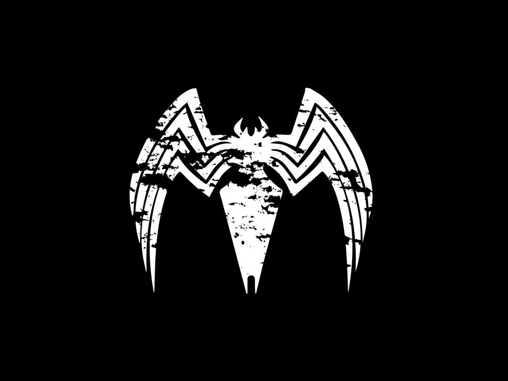 Desktop Wallpaper Venom Logo Villain Minimal Hd Image