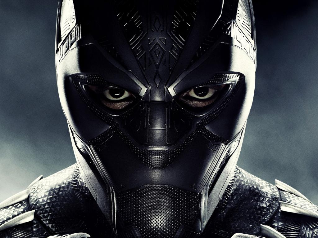 Desktop wallpaper black panther, superhero's face, movie ...