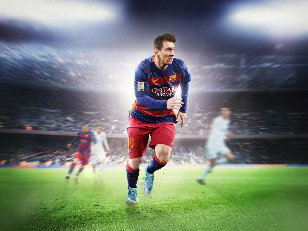 Desktop Wallpaper Lionel Messi, Footballer, Fifa 16, Ea