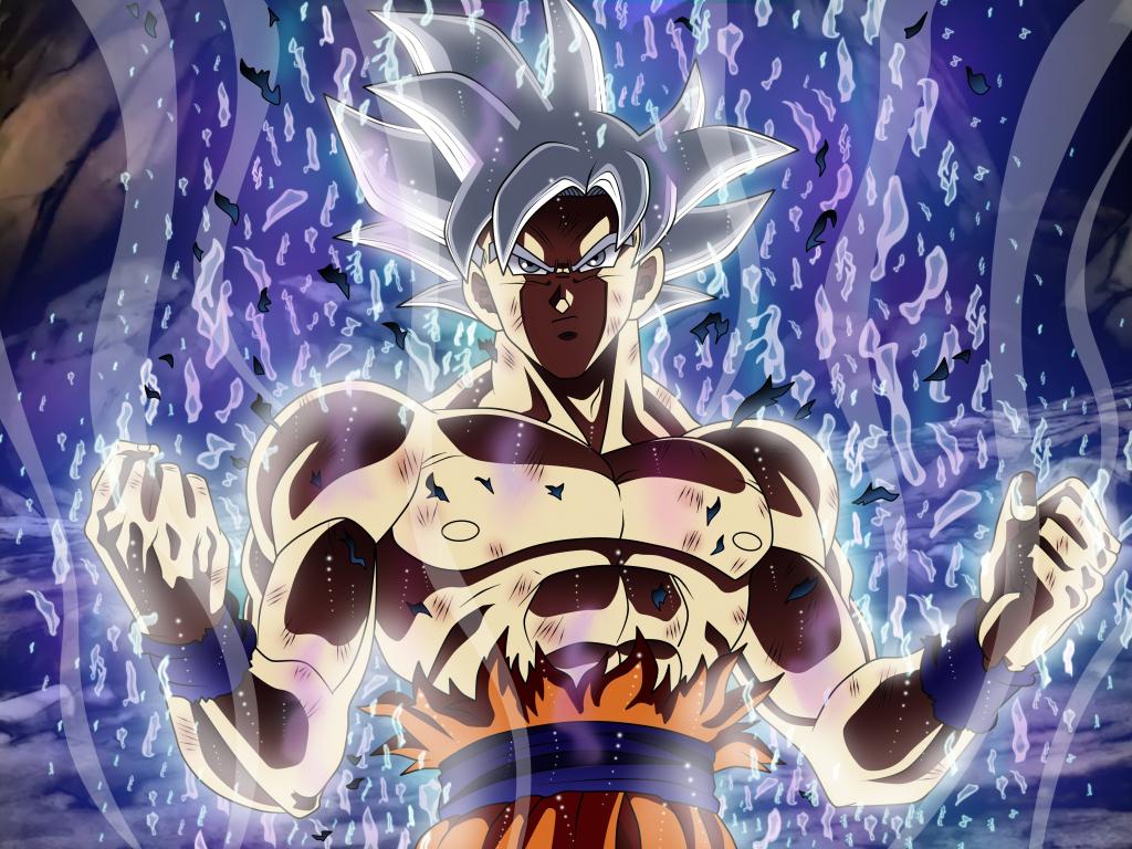 Desktop wallpaper ultra power, white hair, dragon ball super, goku, hd image, picture ...