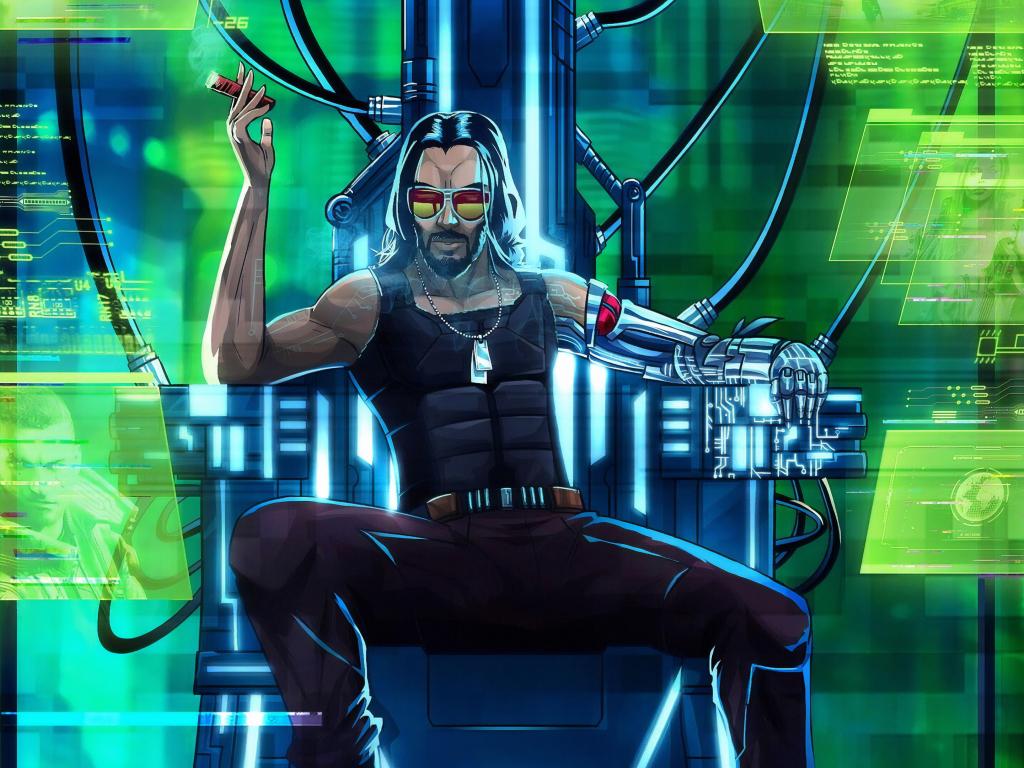 Desktop Wallpaper Cyberpunk 2077  Keanu Reeves  Video Game