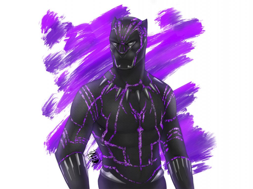 Desktop wallpaper black panther, superhero, fan artwork ...