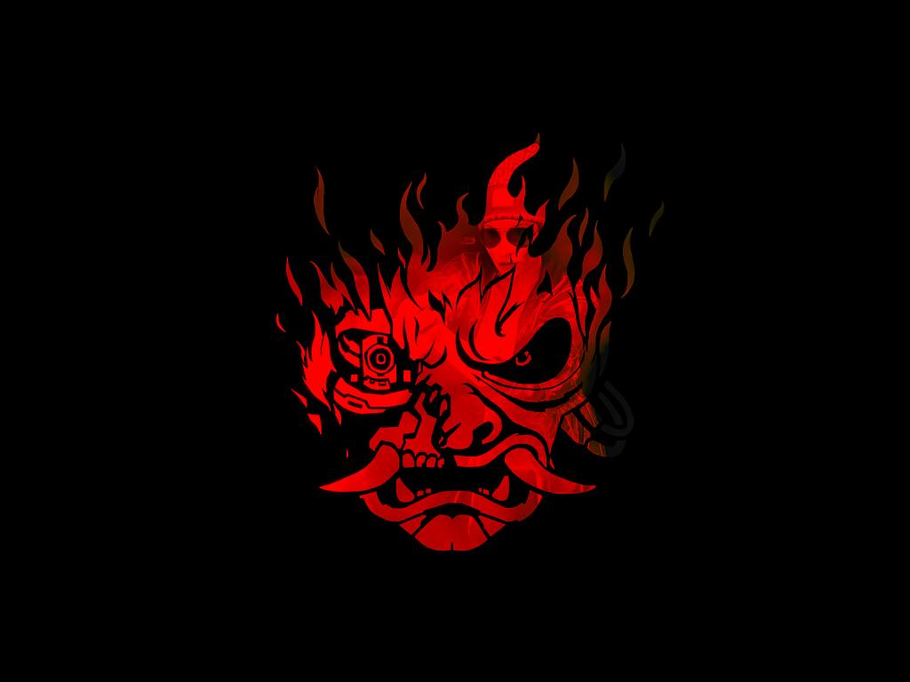 Desktop Wallpaper Cyberpunk 2077 Samurai S Mask Dark 2021 Hd Image Picture Background 537d31