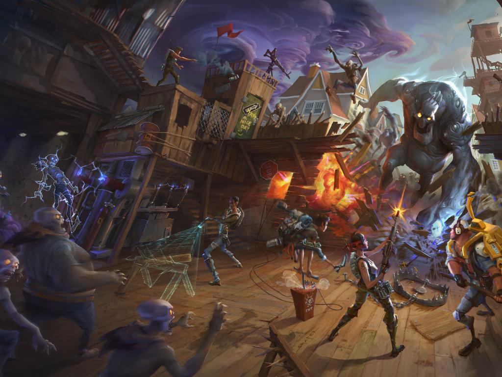 Desktop Wallpaper Battle Fortnite Game Hd Image