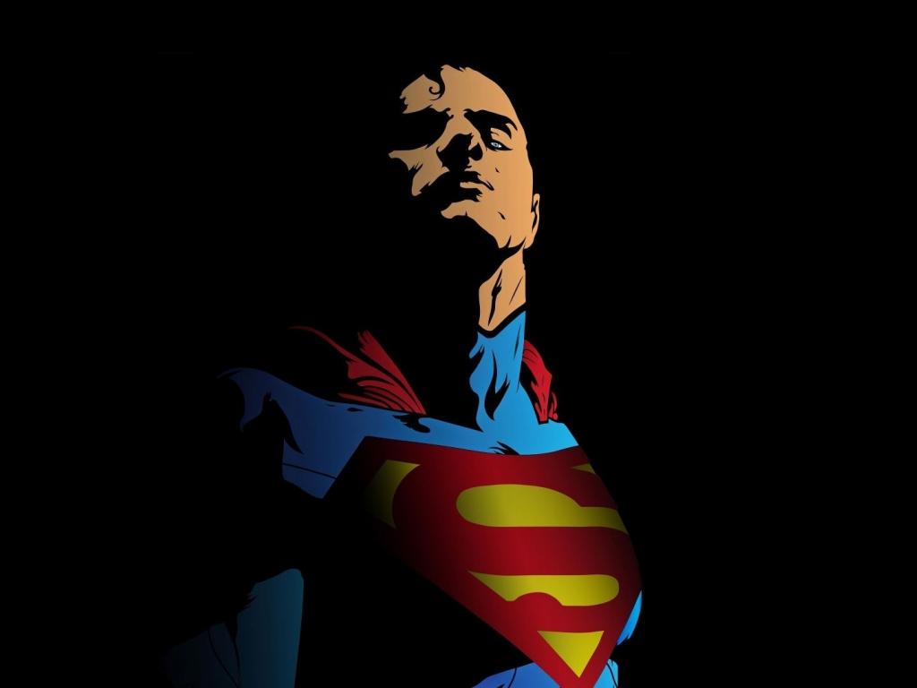 Superman, minimal, art, 1024x768 wallpaper