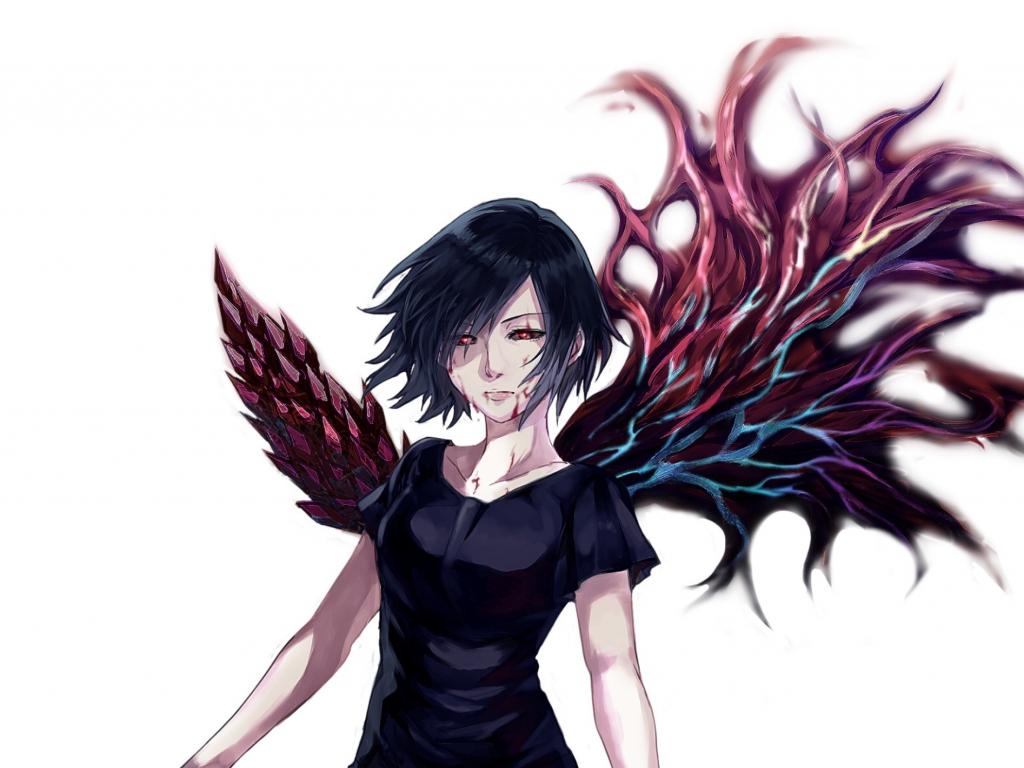 Download 1024x768 wallpaper wings anime girl touka - Wallpaper 1024x768 anime ...