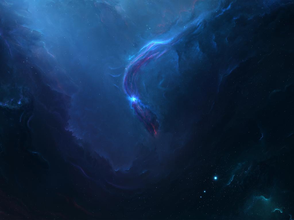 Desktop wallpaper blue nebula, space, dark, clouds, hd ... Blue Nebula Wallpaper Widescreen