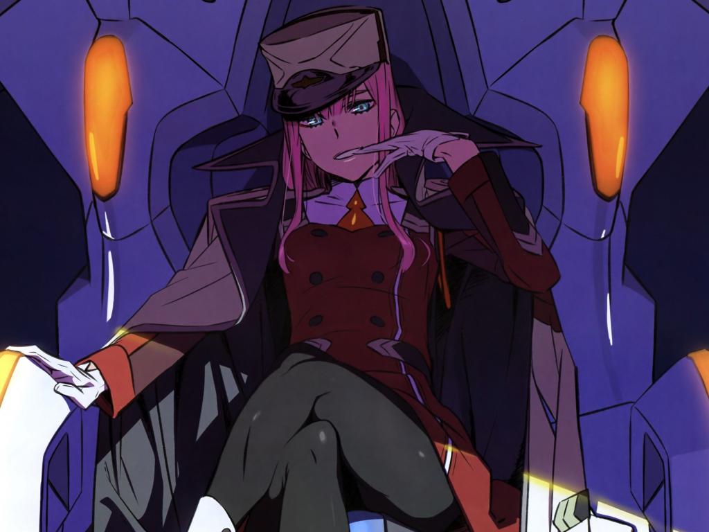 Desktop wallpaper zero two, darling in the franxx, anime ...