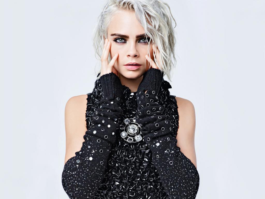 download 1024x768 wallpaper cara delevingne, fashion model, lily