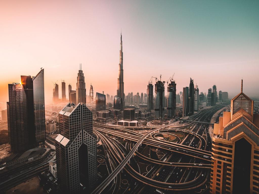 Dubai, skyline, cityscape, skyscrapers, buildings, Burj Khalifa, city, 1024x768 wallpaper