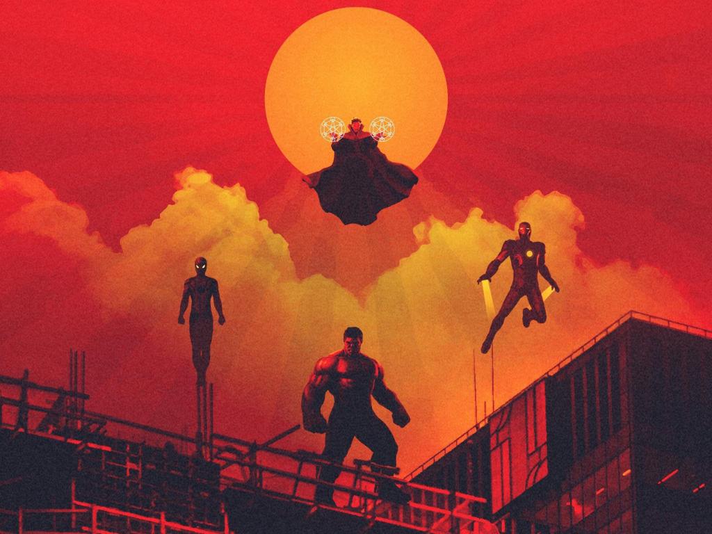 1024x1204 Doctor Strange Fan Art 1024x1204 Resolution Hd: Desktop Wallpaper Avengers: Infinity War, 2018 Movie, Hulk