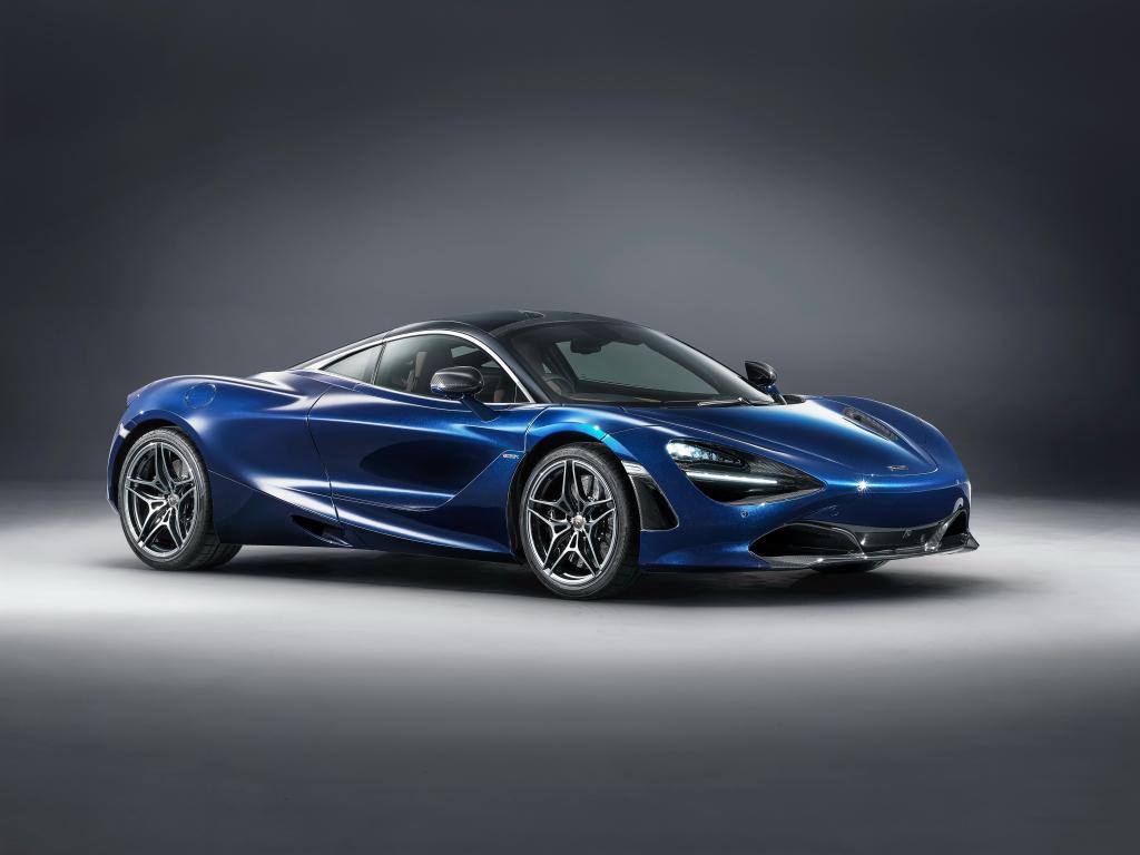 Desktop wallpaper mclaren 570s spider, racing car, blue ...