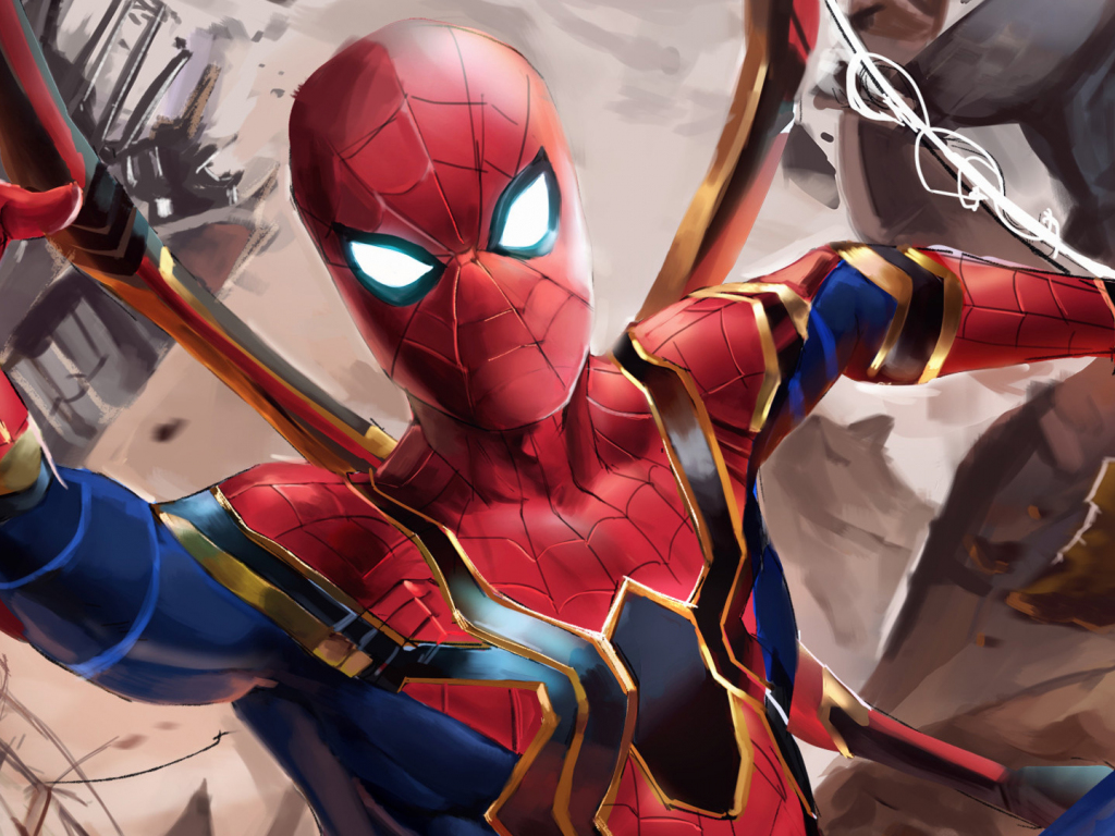 Desktop wallpaper iron suit spider man avengers - Spider man infinity war wallpaper ...