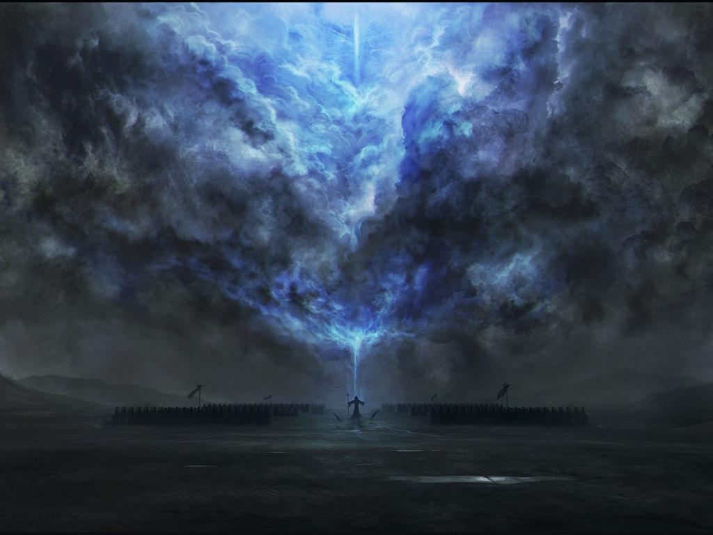 Desktop wallpaper dark tower magic fantasy clouds art - Fantasy wallpaper 720p ...