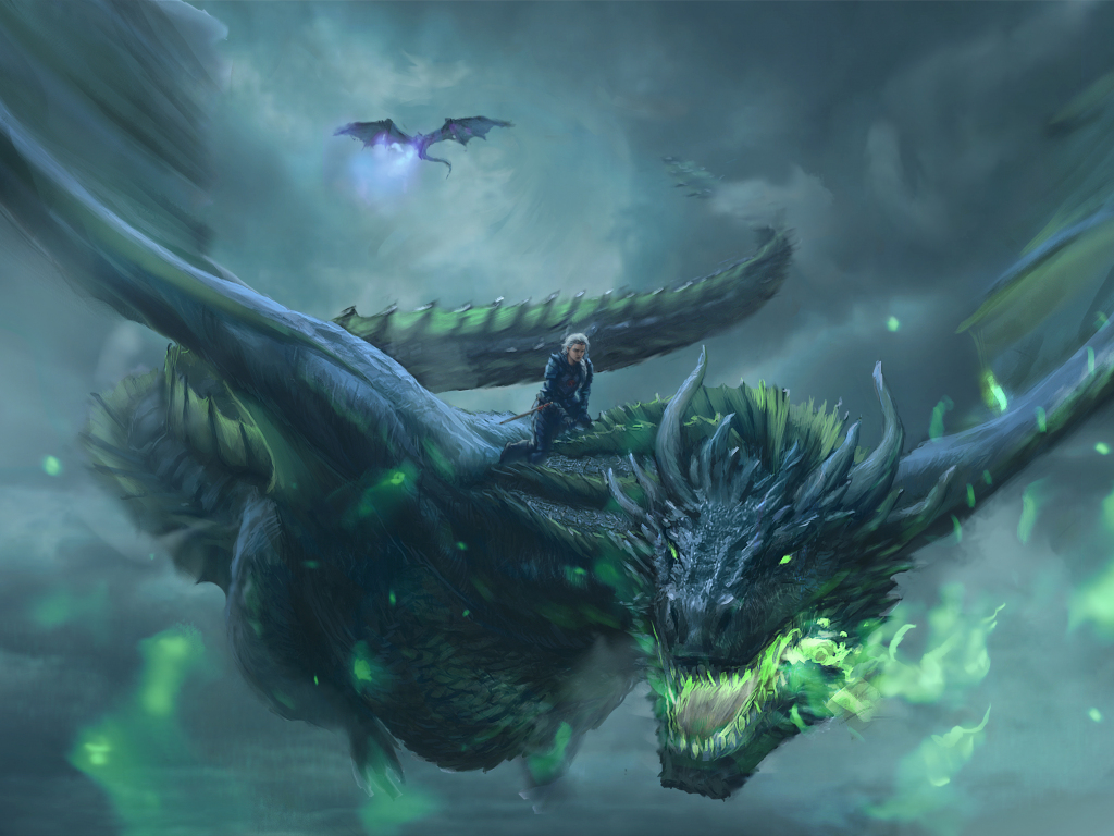 Desktop Wallpaper Daenerys Targaryen, Dragon Ride, Game Of