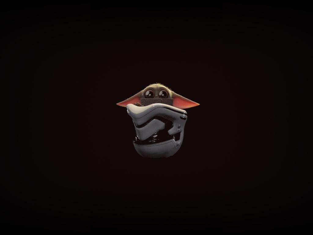 Desktop Wallpaper Minimal Baby Yoda Art Hd Image Picture Background Ffee3a
