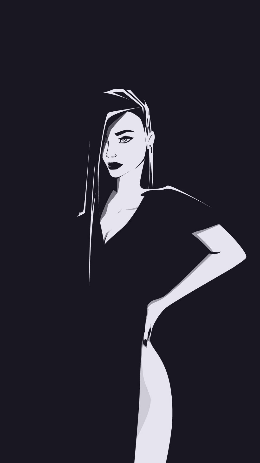 Minimal, urban woman, art, 1080x1920 wallpaper