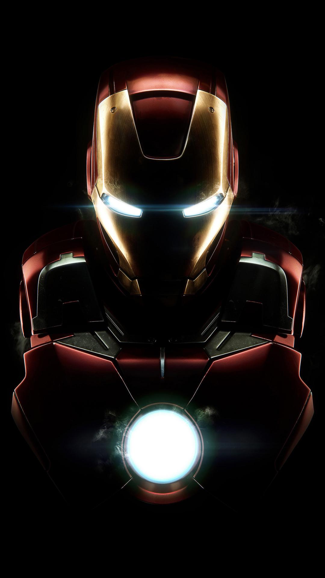 Download 1080x1920 Wallpaper Iron Man Dark Armor Mark Vii