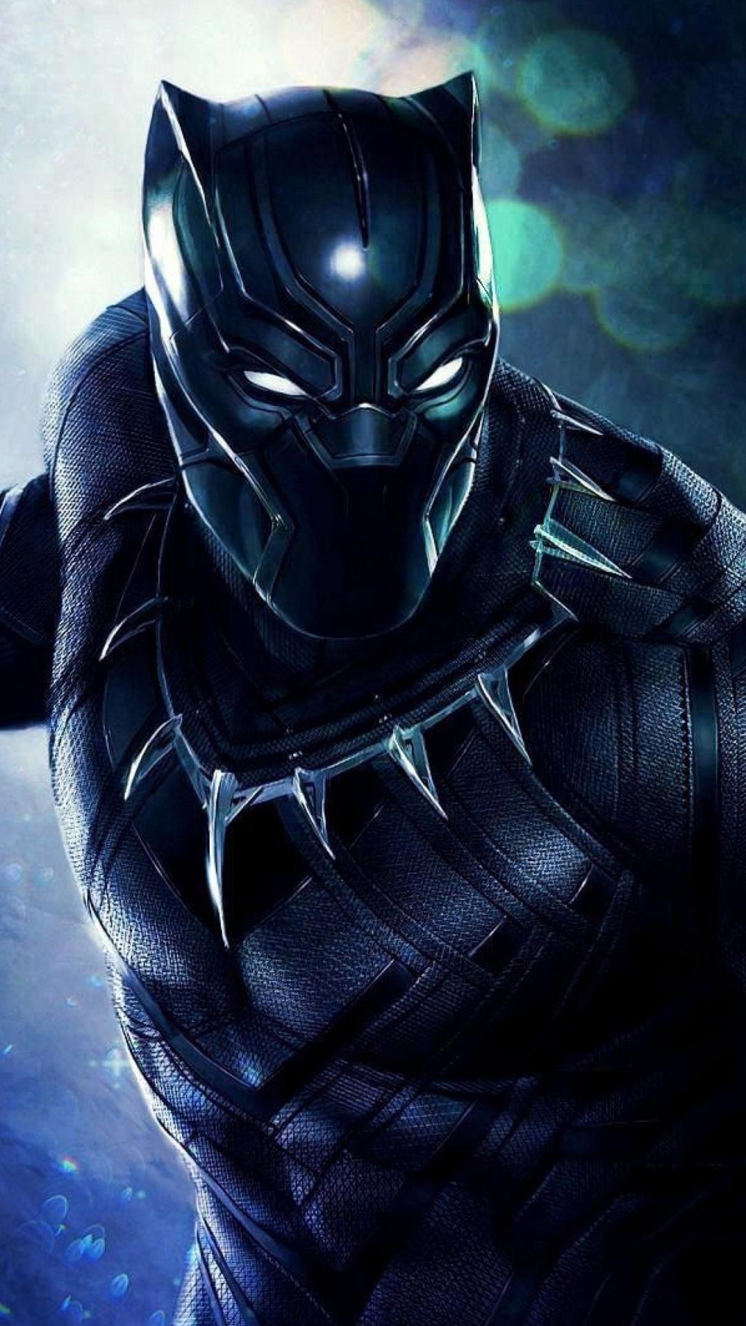 Download 1080x1920 Wallpaper Black Panther Superhero Artwork