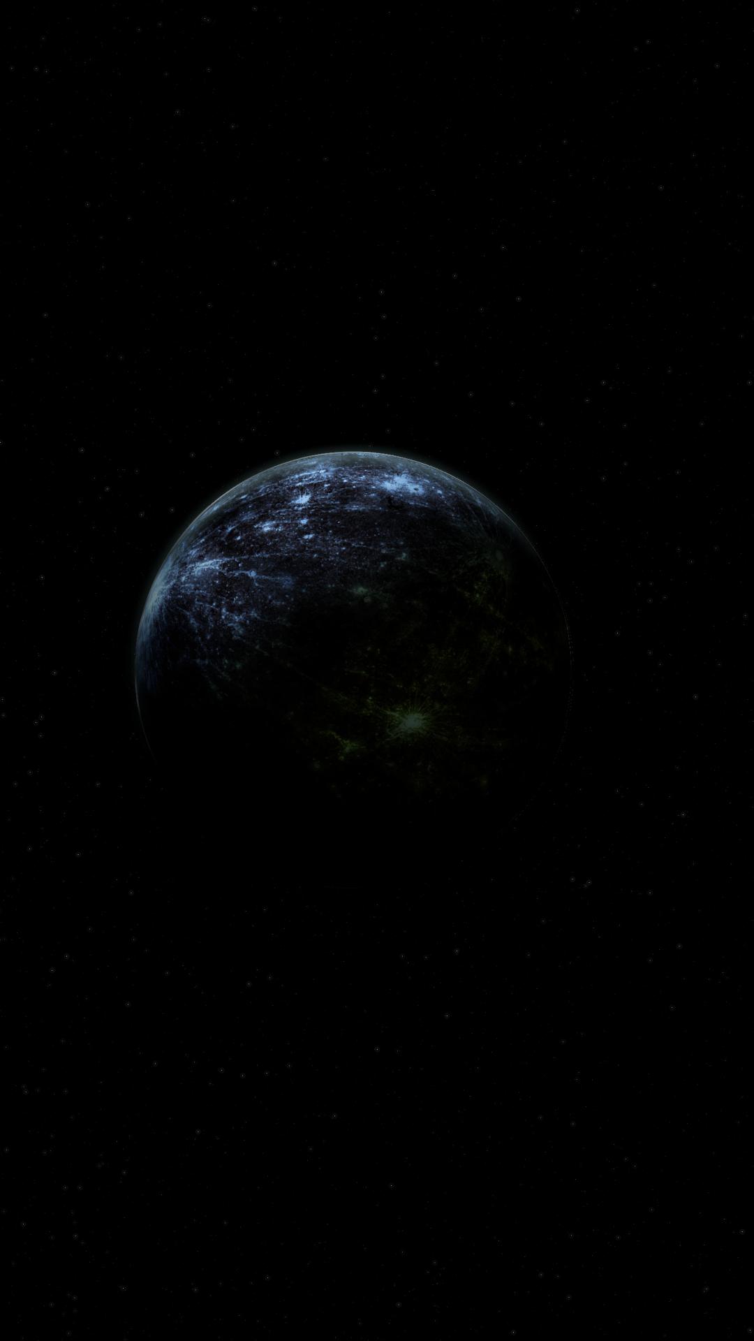 Download 1080x1920 Wallpaper Space Planet Shadow Dark Fantasy