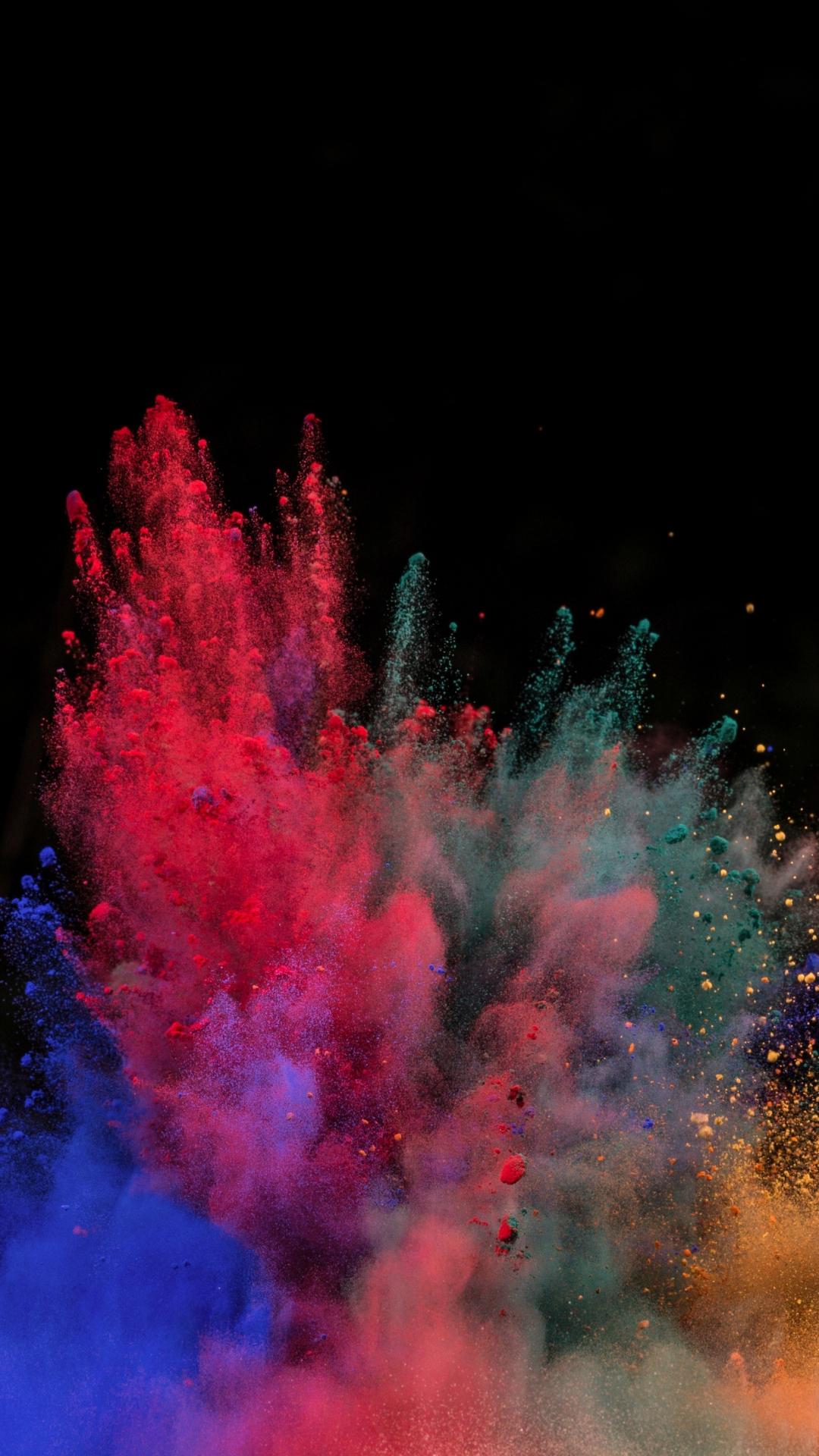 Download 1080x1920 Wallpaper Color Explosion Powders