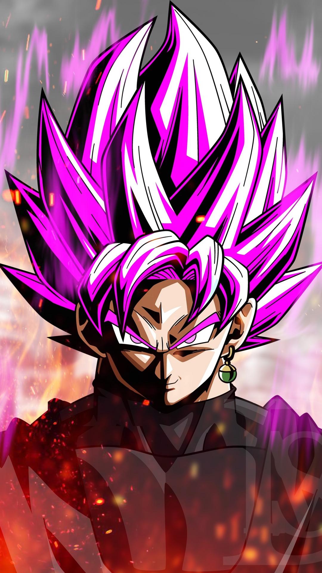 Download 1080x1920 Wallpaper Anime Black Violet Hair Dragon