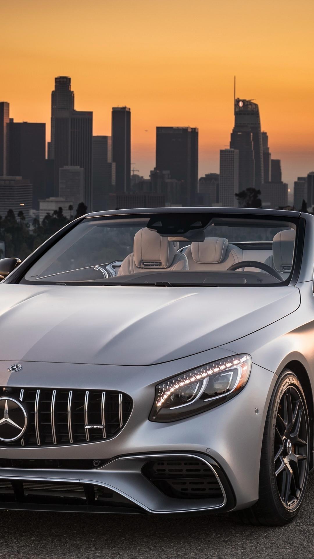 Mercedes-AMG S63 4MATIC Cabriolet, sports car, 1080x1920 wallpaper