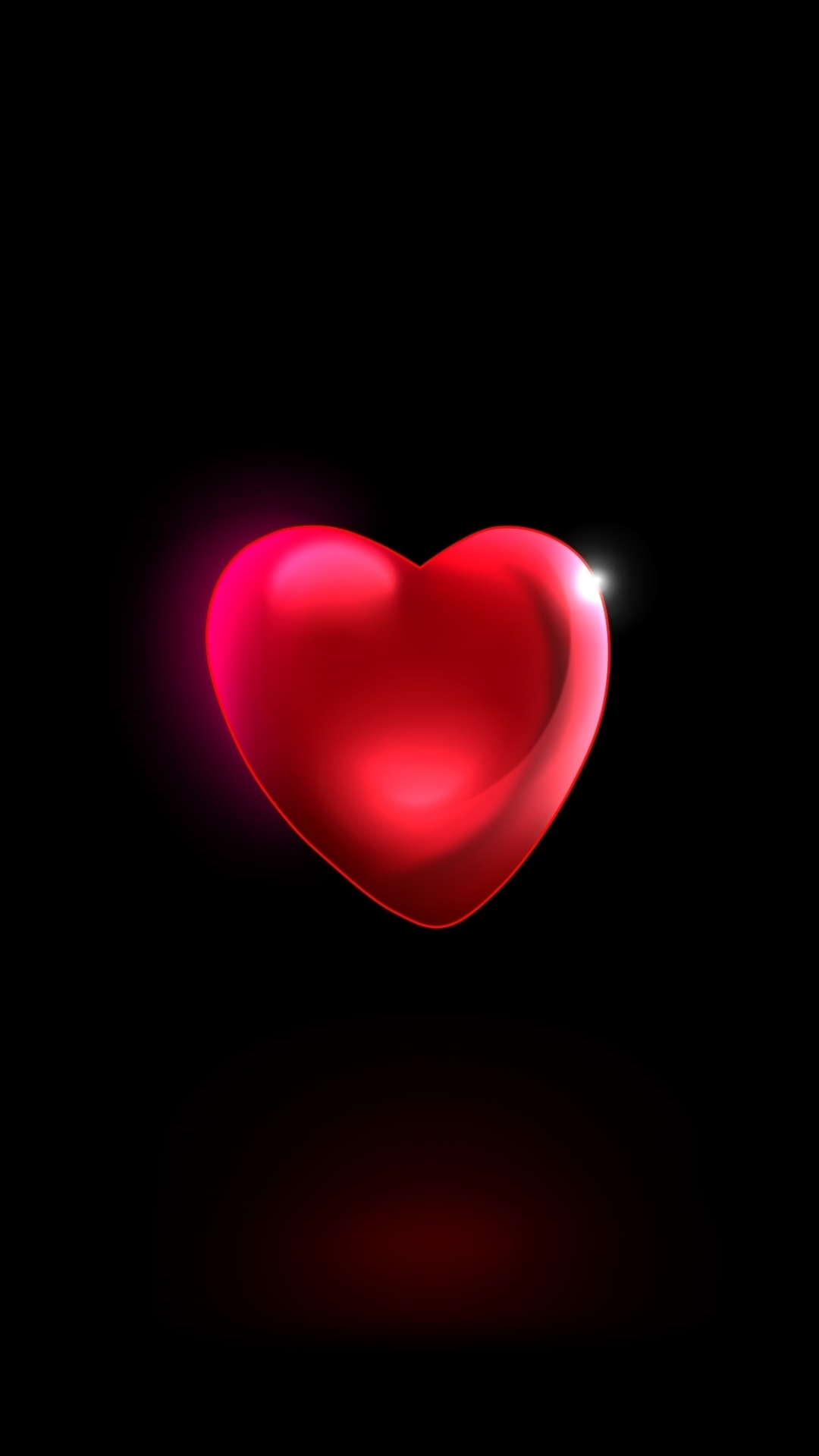 Download 1080x1920 wallpaper minimal red heart 3d samsung galaxy s4 s5 note sony xperia z - 3d wallpaper for note 8 ...