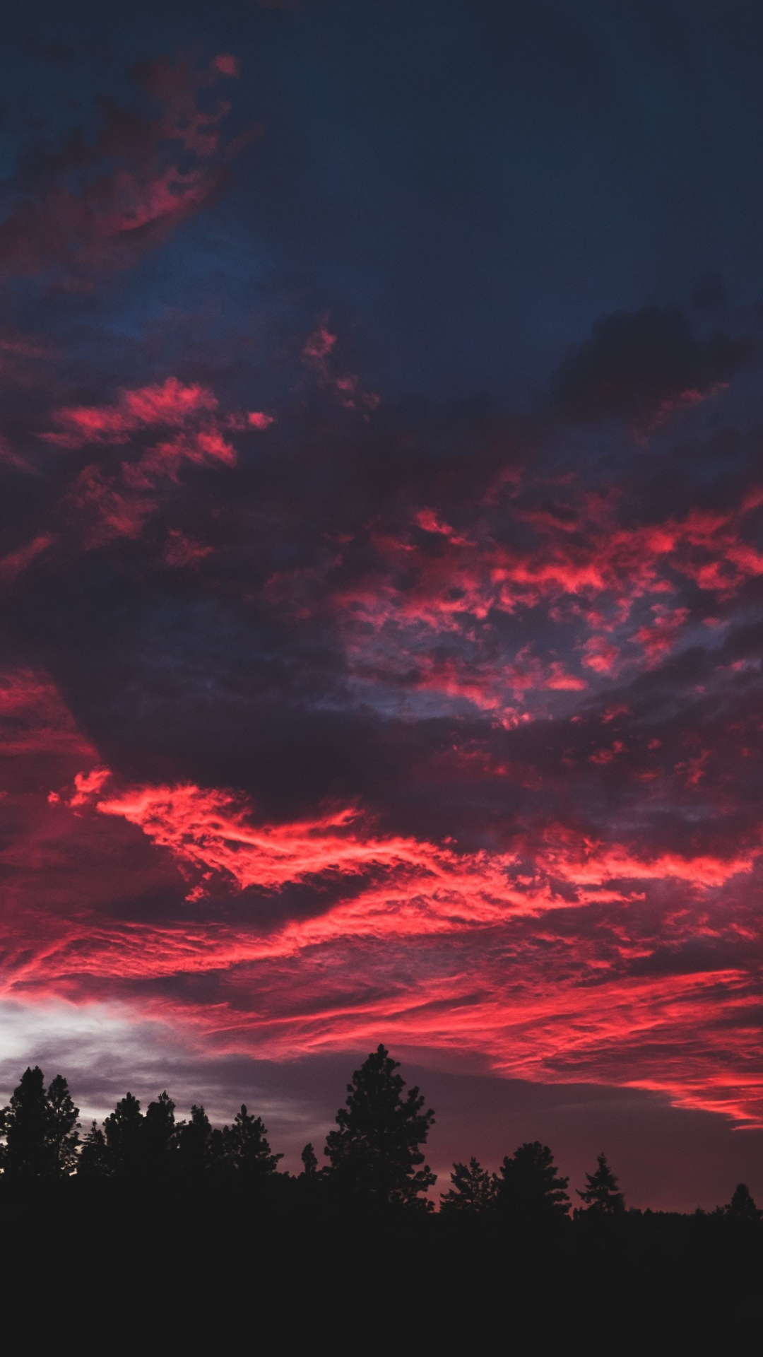 Download 1080x1920 Wallpaper Colorful, Clouds, Sunset