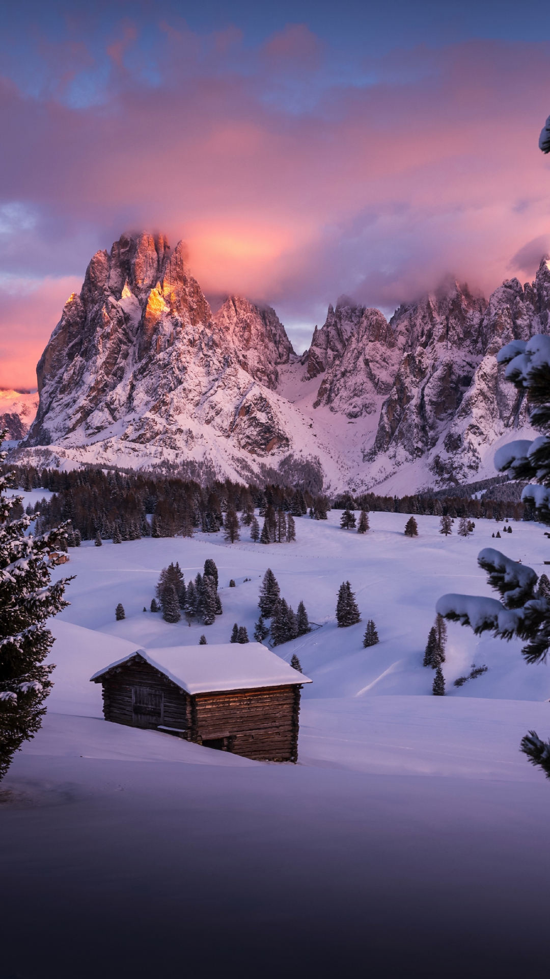 Popular Wallpaper Mountain Note 5 - winter-cabin-landscape-mountains  Perfect Image Reference_75633.jpg
