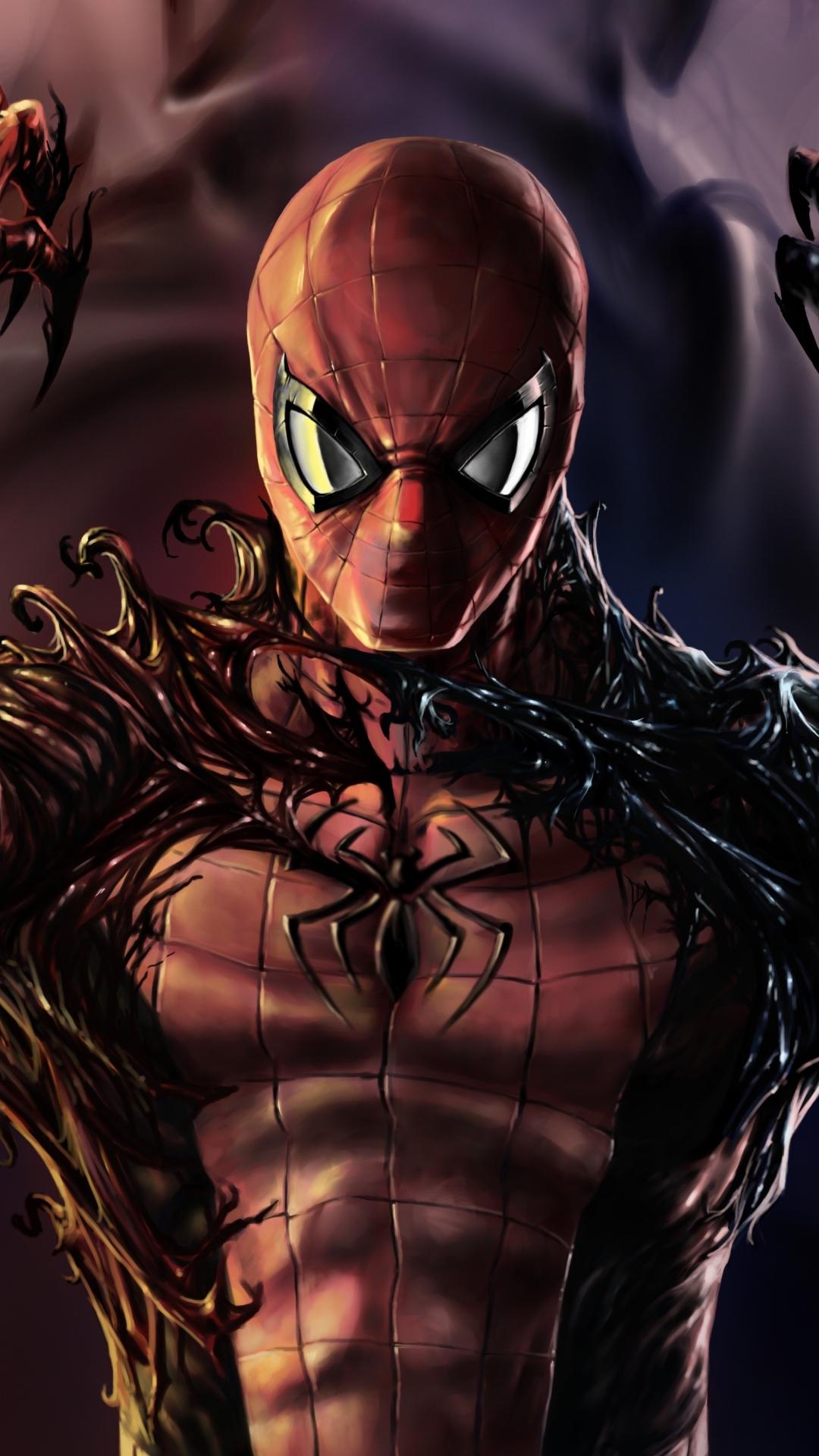Download 1080x1920 Wallpaper Carnage Venom Spider Man Artwork