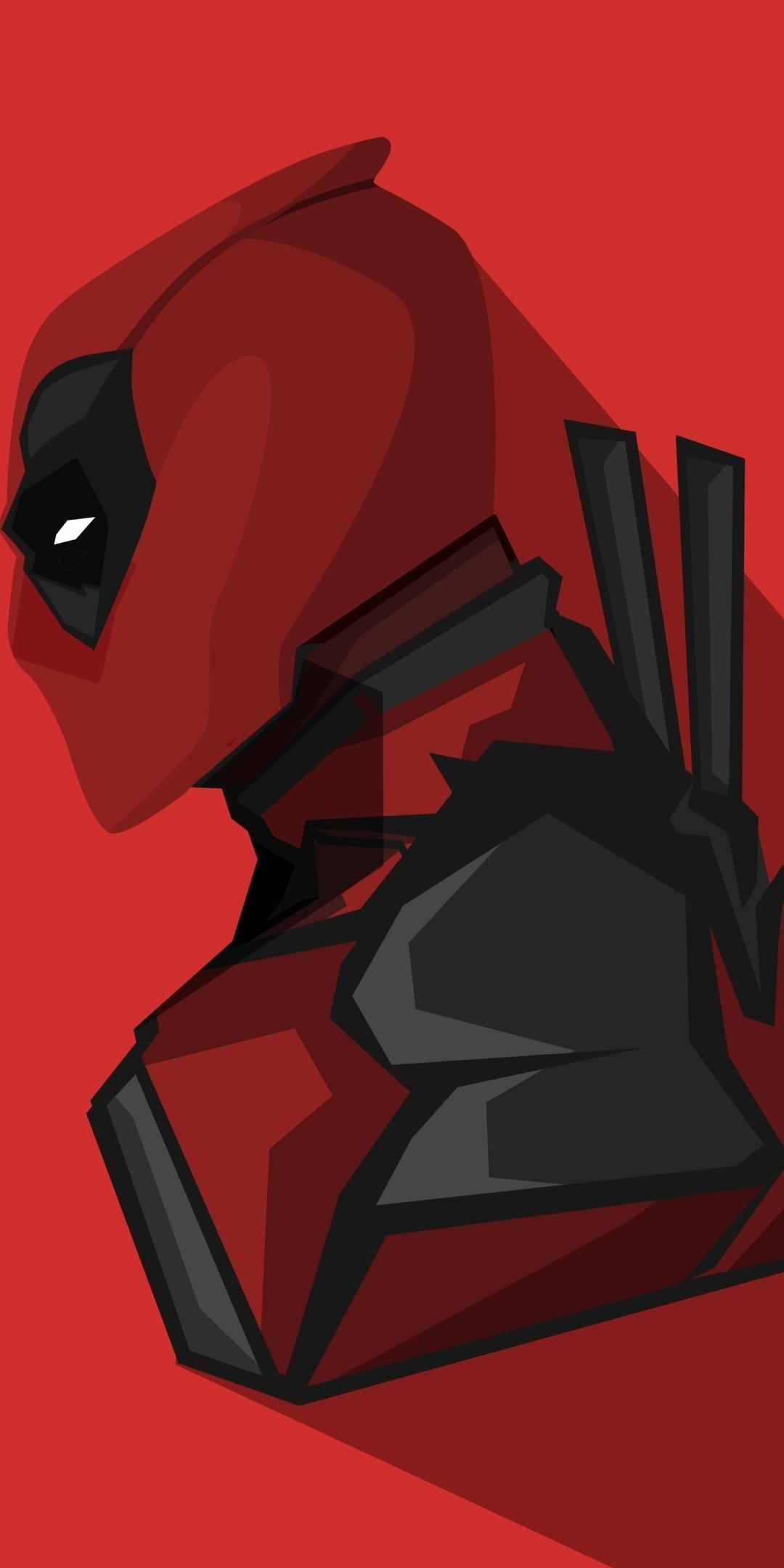 Download 1080x2160 Wallpaper Deadpool Marvel Comics Minimal Honor