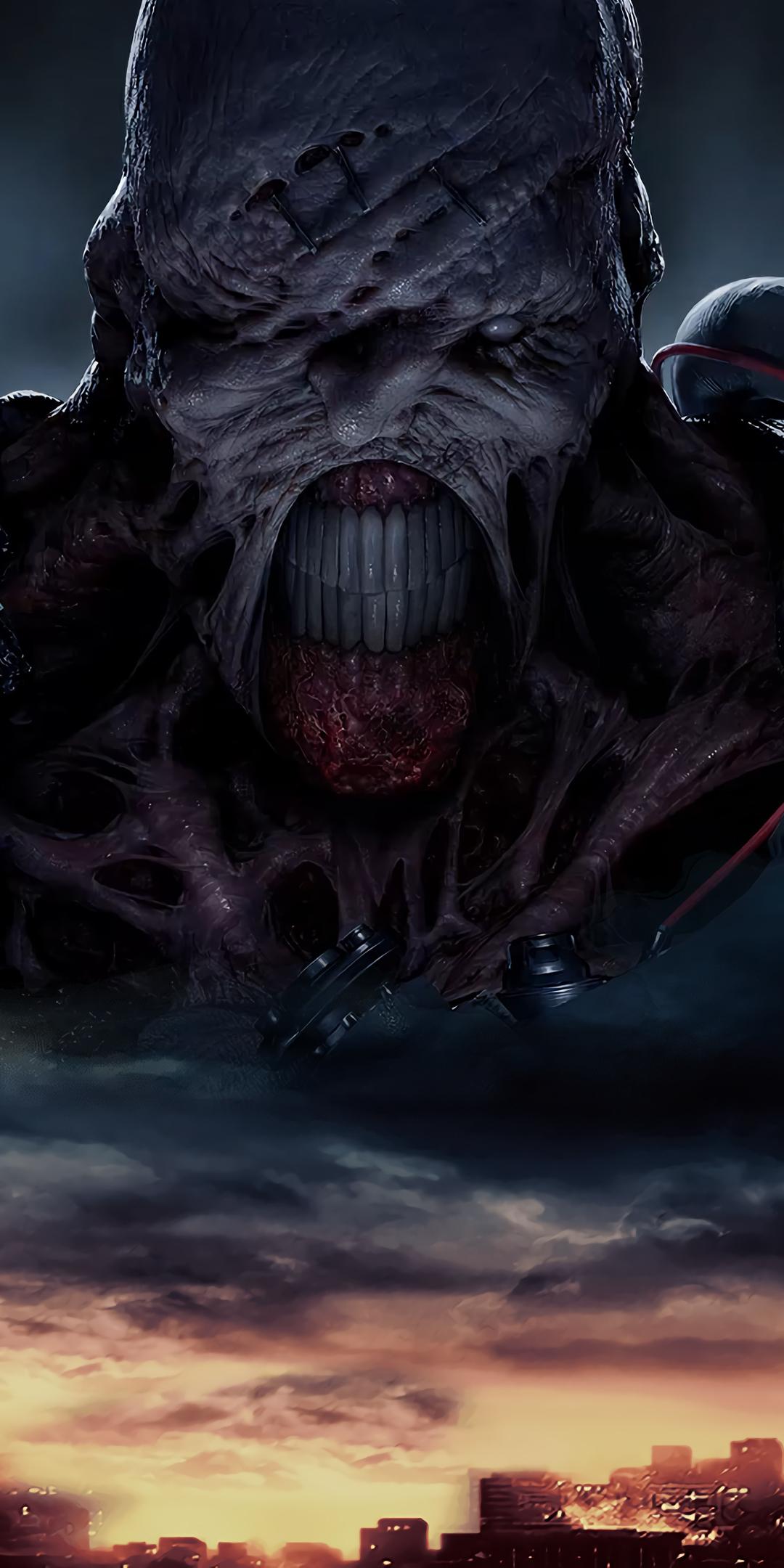 Download 1080x2160 Wallpaper Creepy Creature Resident Evil