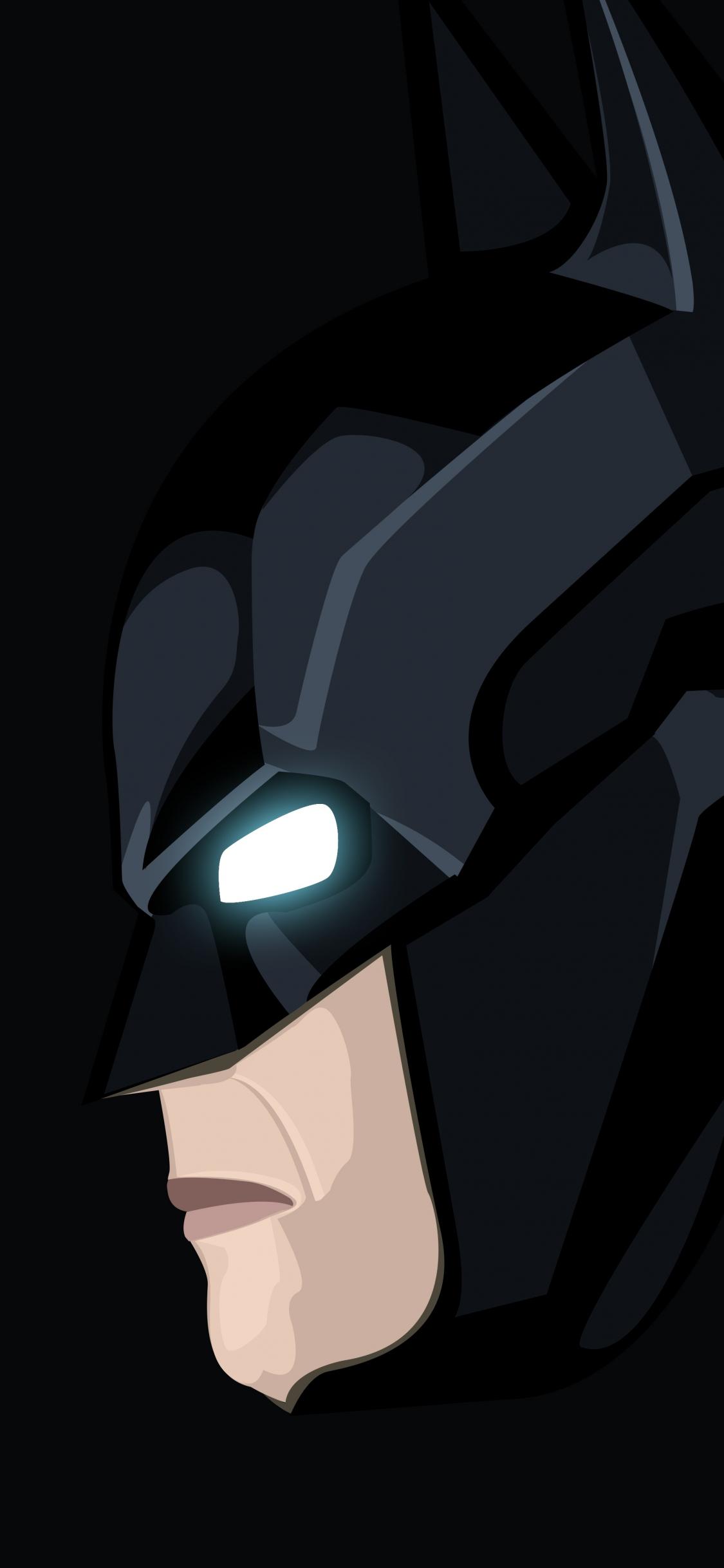 Download 1125x2436 Wallpaper Dark Knight Batman Minimal Art