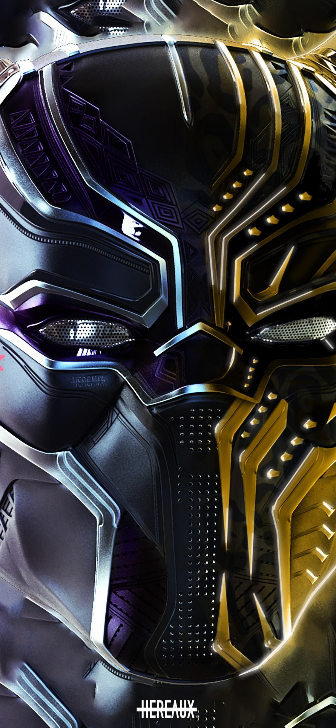 Download 1125x2436 Wallpaper Black Panther And Erik Killmonger