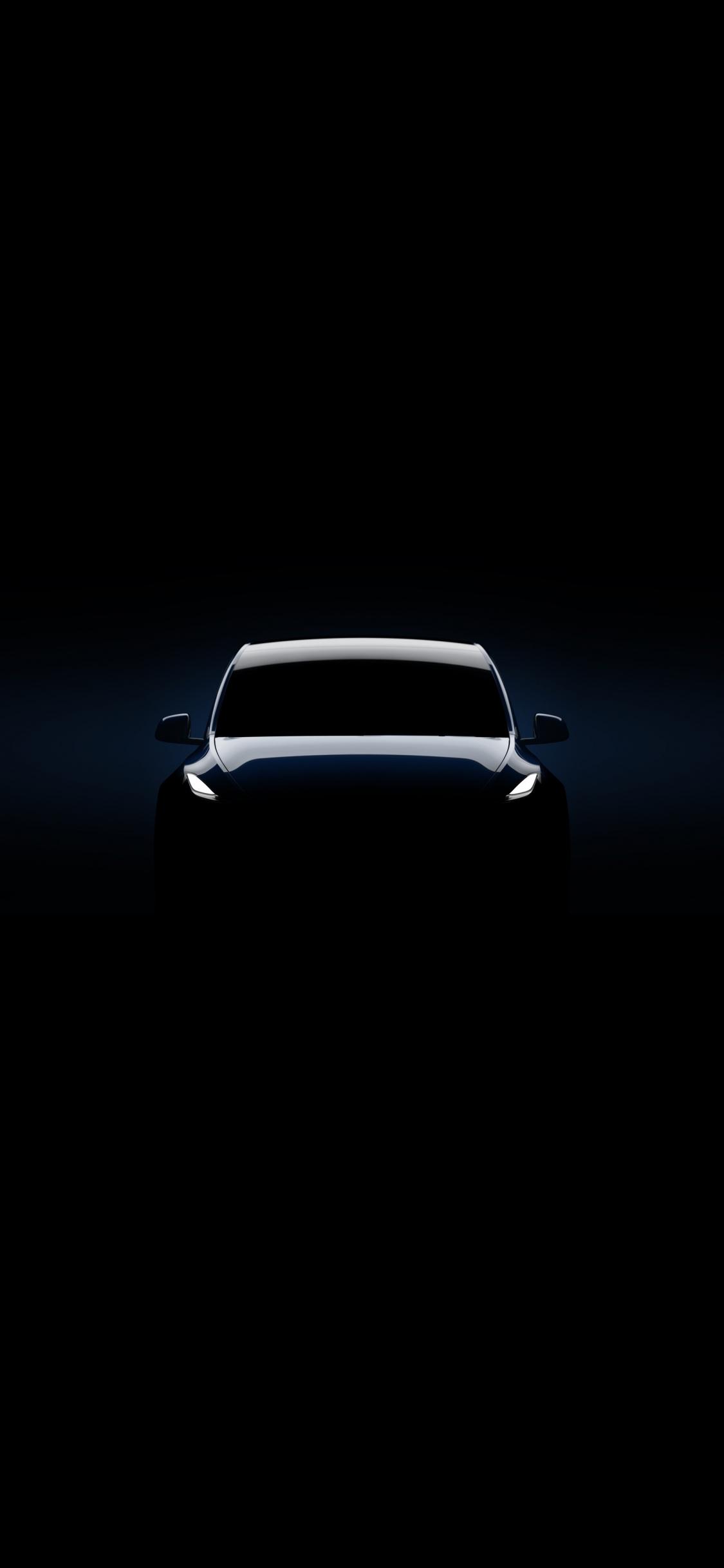 Download 1125x2436 Wallpaper 2019 Tesla Model Y Dark