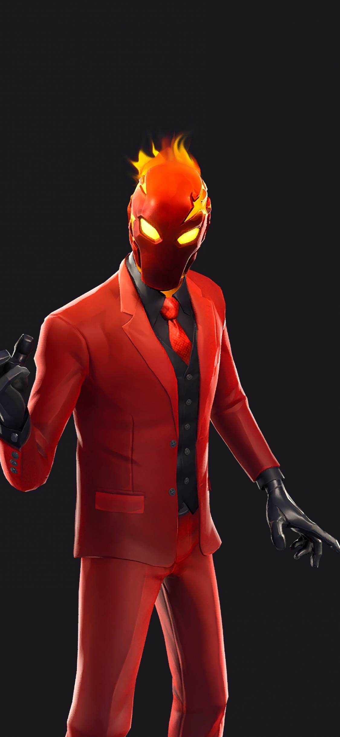 Download 1125x2436 wallpaper game, 2019, red suit, inferno