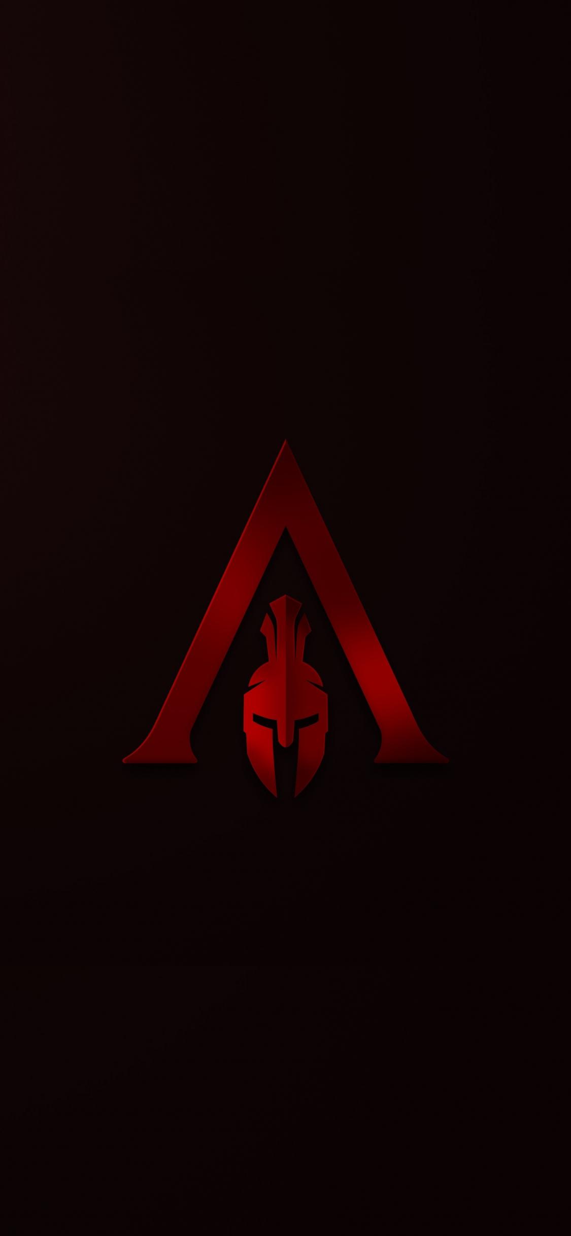 Download 1125x2436 Wallpaper Helmet Minimal Assassin S Creed
