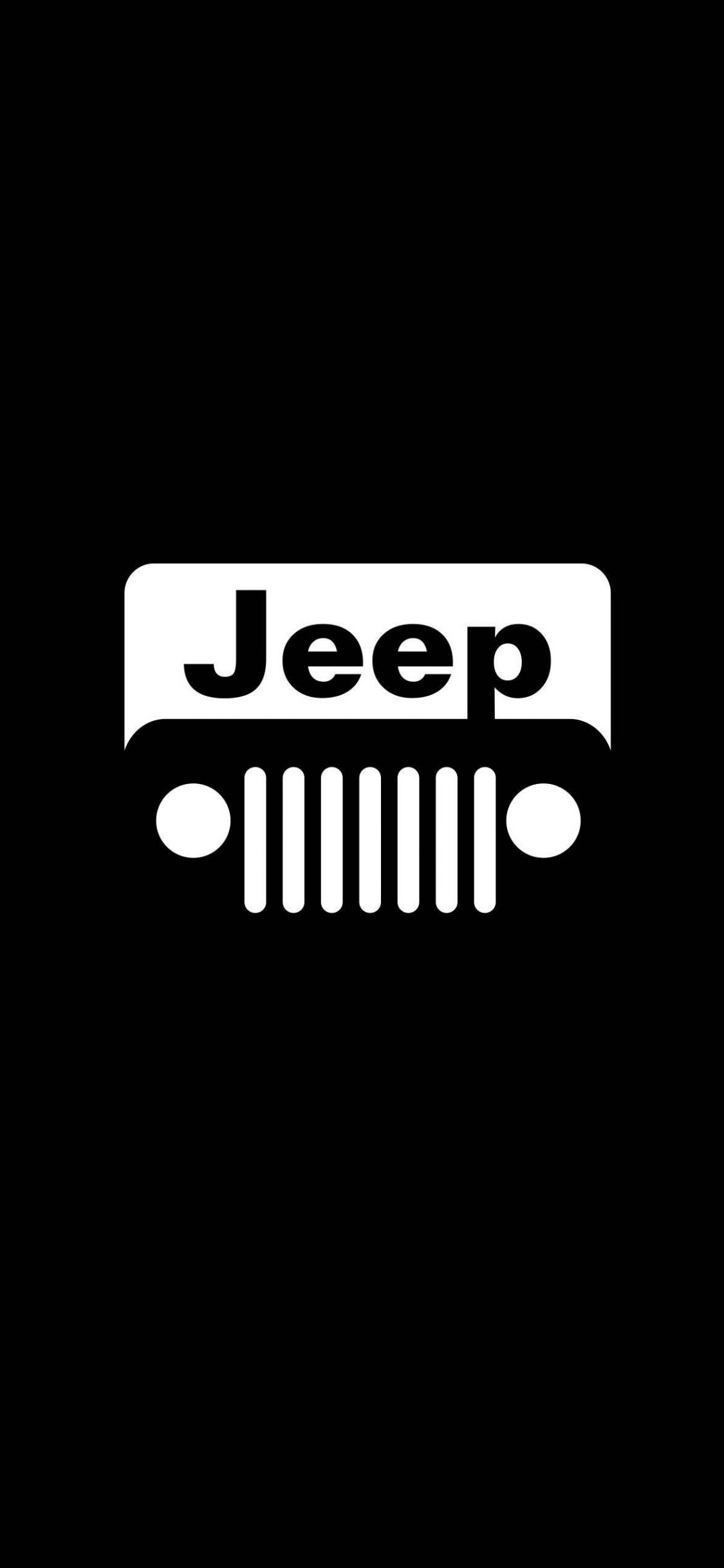 Download 1125x2436 Wallpaper Jeep Car Minimal Logo Dark