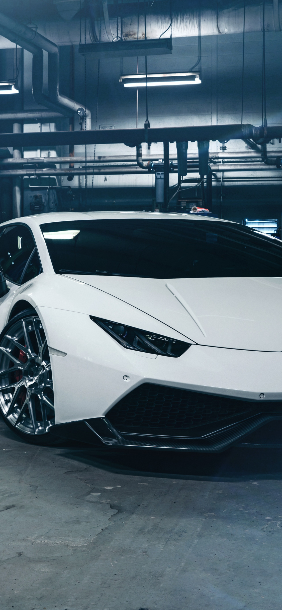 Download 1125x2436 Wallpaper White Sport Lamborghini