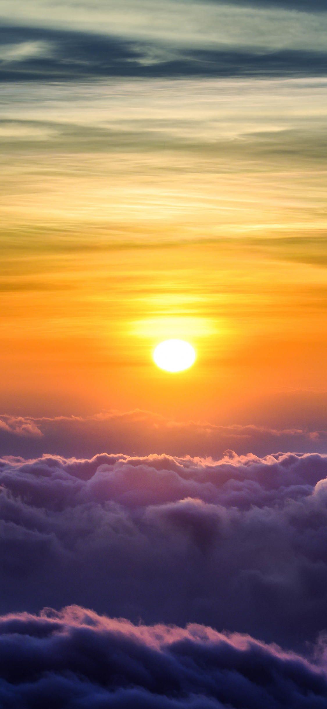 Download 1125x2436 Wallpaper Above The Clouds Nature