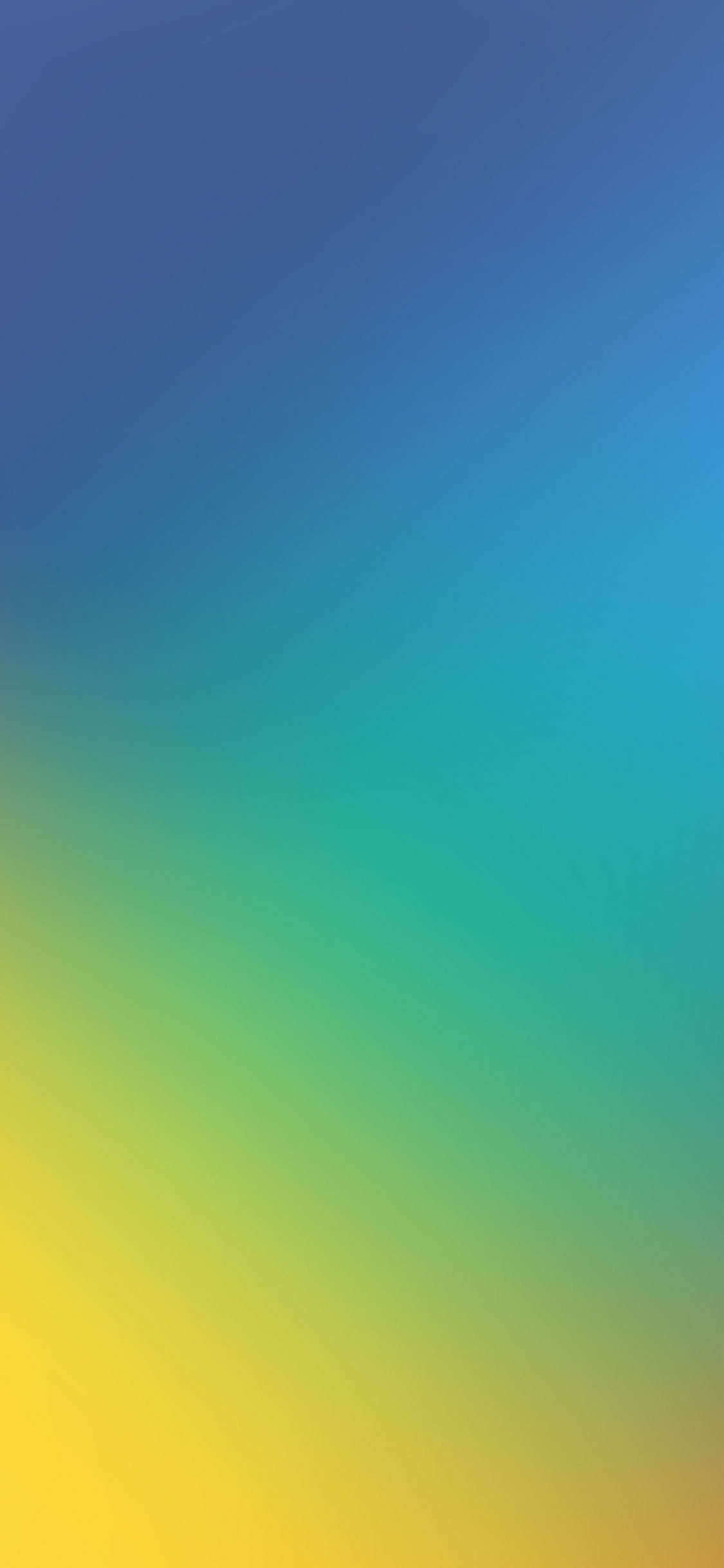 Download 1125x2436 Wallpaper Blue Yellow Gradient Abstract Iphone