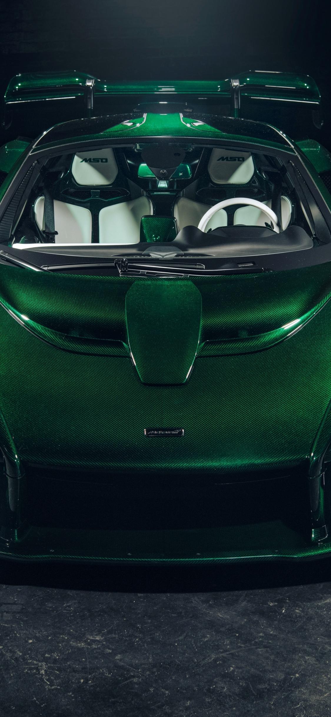 Download 1125x2436 Wallpaper Green Sports Car Front Mso Mclaren Senna Iphone X 1125x2436 Hd Image Background 10501