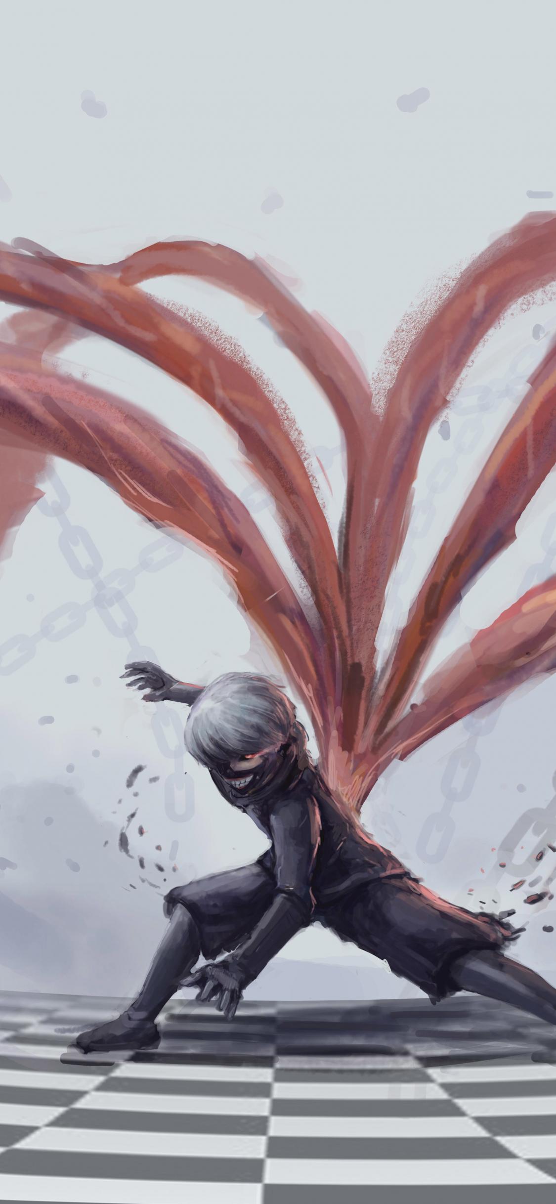 Download 1125x2436 wallpaper tokyo ghoul, artwork, ken