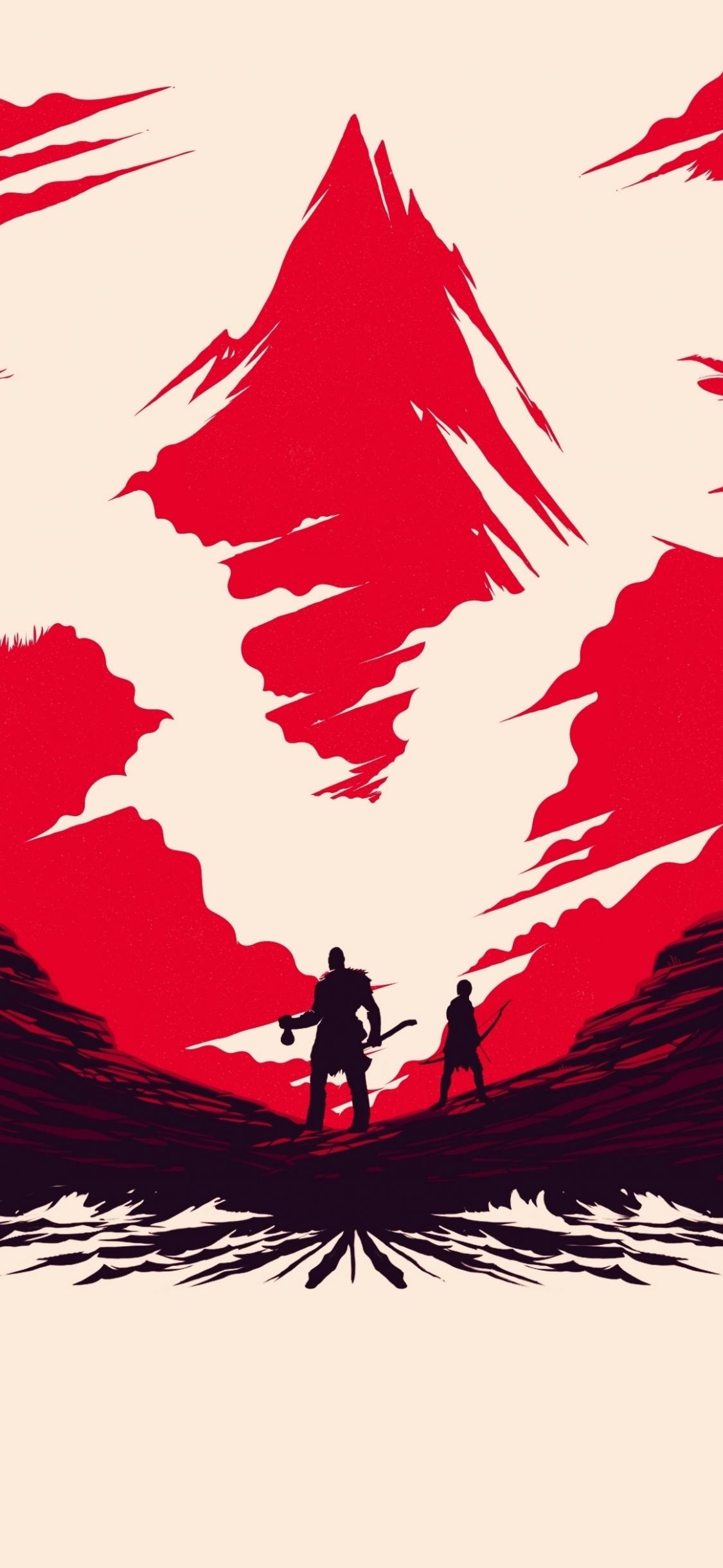 Download 1125x2436 Wallpaper Valley Video Game God Of War Art