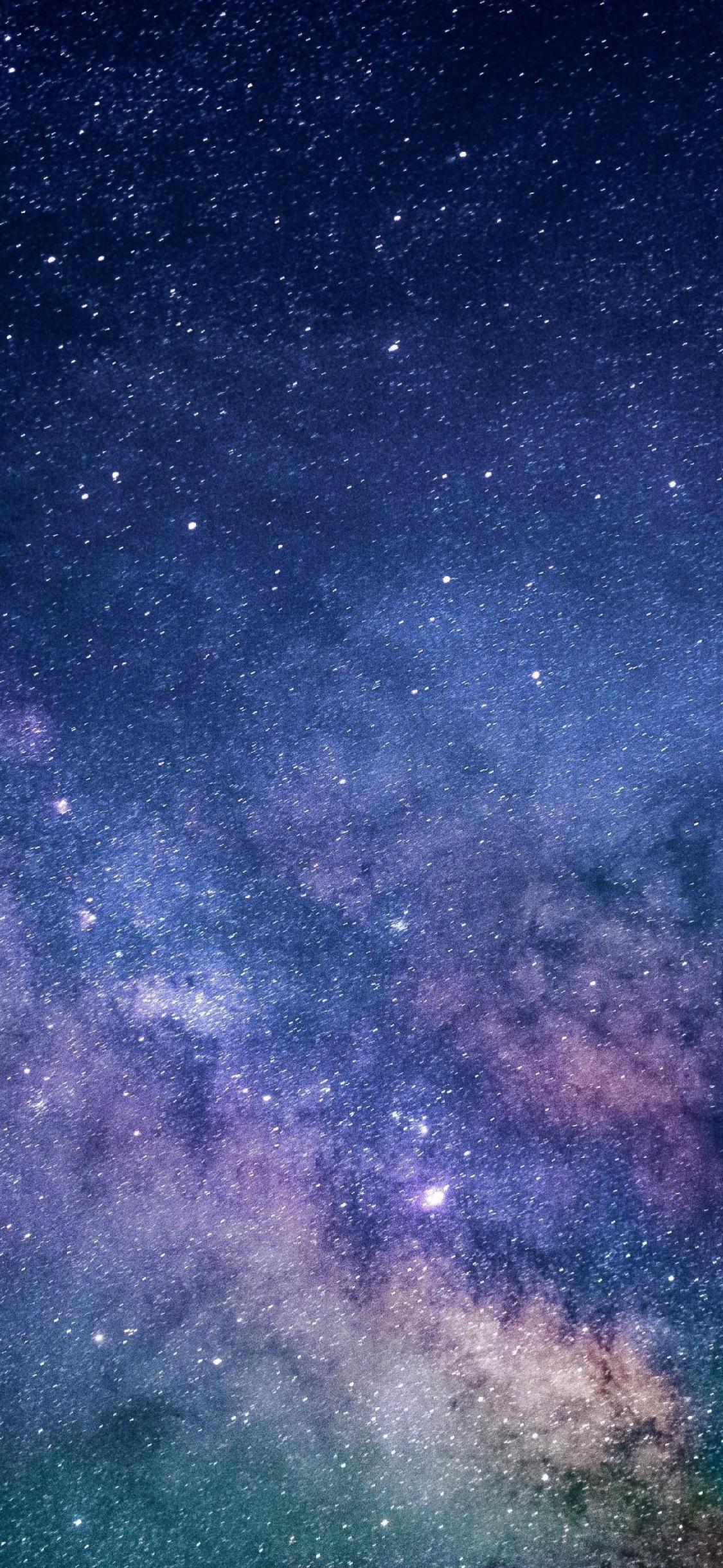 Download 1125x2436 Wallpaper Galaxy Milky Way Space Stars